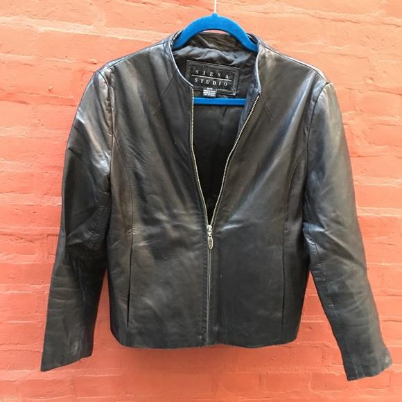 903d72093 Sienna Studio Black Leather Jacket